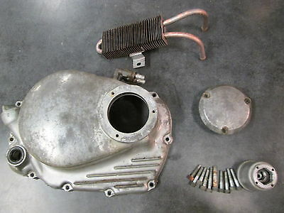70-73 Honda CB CL 350 Clutch Cover with Added Oil Cooler & Spinner CB350 CL350