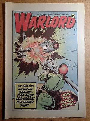 Warlord Comic No.349 May 30th 1981 War Action Vintage British Comics