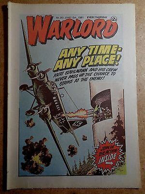 Warlord Comic No.351 June 13th 1981 War Action Vintage British Comics