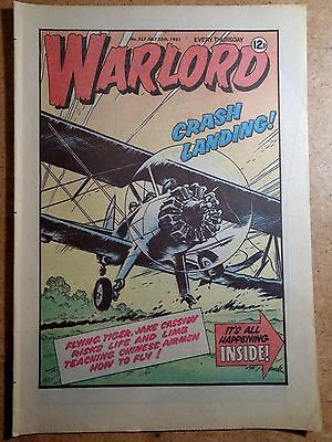 Warlord Comic No.357 July 25th 1981 War Action Vintage British Comics