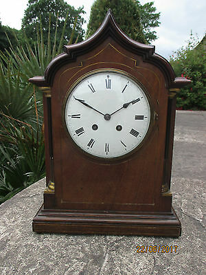Mahogany French 8 day Striking clock circa 1900s.