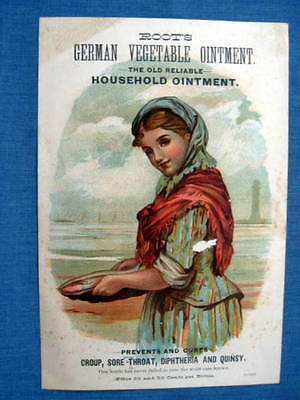 Roots German Ointment Trade Card 1880 Strong & Cobb Cleveland OH