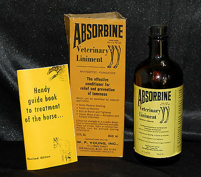 VTG  ABSORBINE VETERINARY LINAMENT BROWN BOTTLE 12 oz & ORIGINAL Box & Leaflet