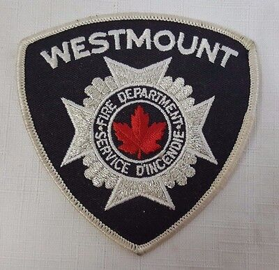 Westmount Fire Fighter Department Defunct Obsolete Uniform Patch Sew On Service