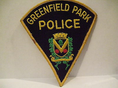 police patch  GREENFIELD PARK POLICE QUEBEC  CANADA  PIE SHAPE