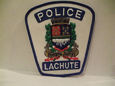 police patch  LACHUTE POLICE QUEBEC  CANADA  NEWER STYLE