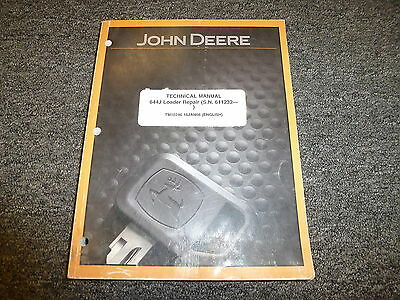John Deere 644J Loader Shop Service Repair Technical john deere 644j loader operation & test technical manual (only john deere 644 wiring diagram at virtualis.co