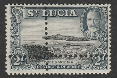 St Lucia 4435 - 1936 KG5 2d  with DOUBLE PERFS  (Forgery) u/m