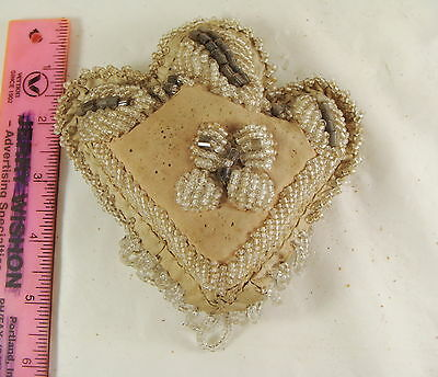 Victorian Beaded Pin Cushion Good Condition