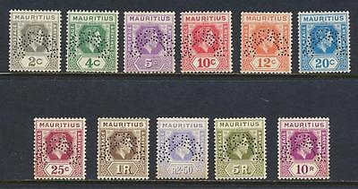 """MAURITIUS 1938, """"SPECIMEN"""" VALS TO 10Rs, VF NH SG#252s++ (SEE BELOW)"""