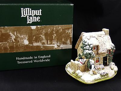 Lilliput Lane Snow Cottage Ice To Meet You Mint in Box with Deeds L2445