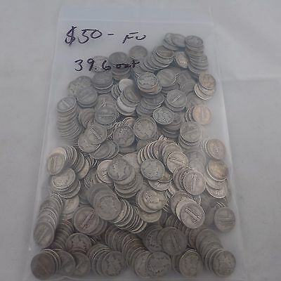 Mercury Dime Lot ~ 500 Silver Dimes ~ $50. Face Value ~ 90% Silver