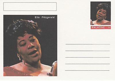 CINDERELLA - 4439 - ELLA FITZGERALD on Fantasy Postal Stationery card