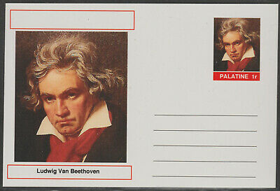 CINDERELLA - 4441 - LUDWIG VAN BEETHOVEN on Fantasy Postal Stationery card