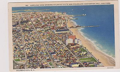Airplane View Atlantic City Post Card. Unused