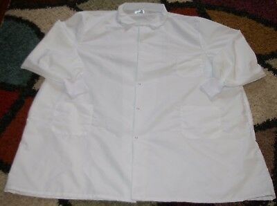 "Best Medical Unisex L/S Lab Coat Snap 3 Pockets Knit Cuff 42"" Length White Sz 5X"