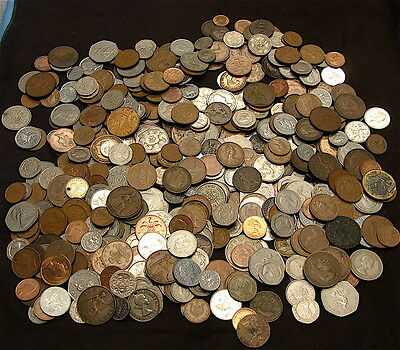 Great Britain Coin Lot-----500 Coins---Mixed Denomination---Vintage & Antique