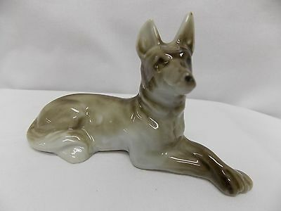 Grey Italian Greyhound Dog Porcelain Figurine 5Lx3T Inch Souvenir of Berwick Pa