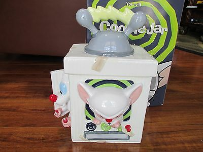 Warner Brothers Animaniacs 1996 Pinky and the Brain Cookie Jar with Box