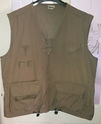 Crane Mesh Vest Clay Shooting Waistcoat Fly Fishing Gilet large
