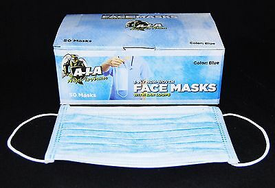 100 DISPOSABLE 3-ply EAR LOOP VETERINARY FACE MASKS VALUE PAK