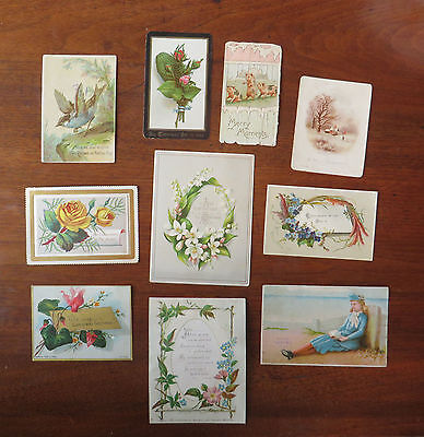 C2828 10 Victorian Greetings Cards: Mixed Subjects