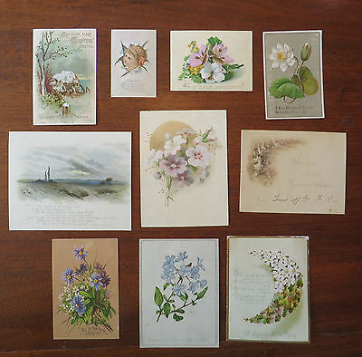 C3028 10 Victorian Greetings Cards: Mixed Subjects