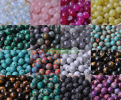 Wholesale 4MM 6MM 8MM 10MM Natural Stone Gemstone Round Spacer Loose Beads Craft