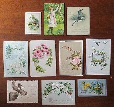 C3227 10 Victorian Greetings Cards: Mixed Subjects
