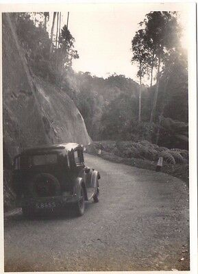 4 Unique photo's, Fraser Hill with motor car, Cameron Highland,Malaya.1937.