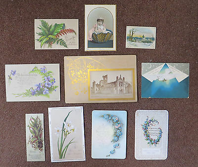 C3430 10 Victorian Greetings Cards: Mixed Subjects