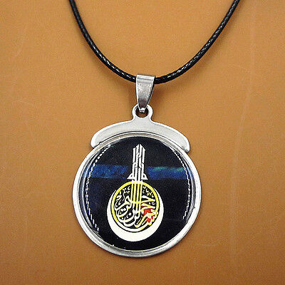 New Islamic Muslim Allah Art Pendant Leather Chain Islam Necklace Jewelry Gift