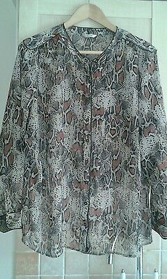 Ladies Marks and Spencer chiffon blouse top size 18