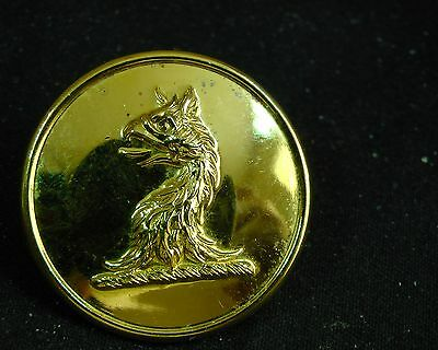 1895-1915 New Old Stock IMPRESSIVE GRIFFIN HEAD ERASED LIVERY BUTTON FIRMIN