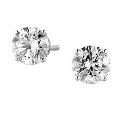 1/5 ct. tw. Diamond April Birthstone Solitaire Earrings in 14k White Gold