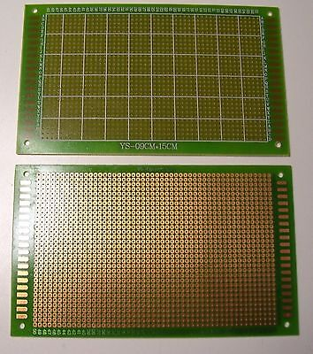 1 set of 2 each 9cm x 15cm Single Side Universal Prototype PCB Circuit Boards