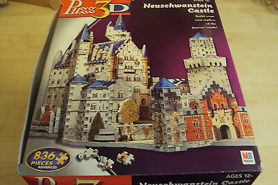 "3D puzzle ""NEUSCHWANSTEIN CASTLE"" 836 pieces - Advanced skill level, by MB games"