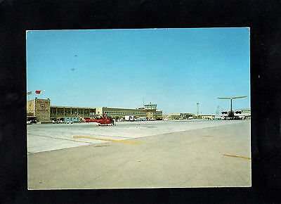 Bahrain 1966 International Airport Postcard To England - Manama Cds Postmark