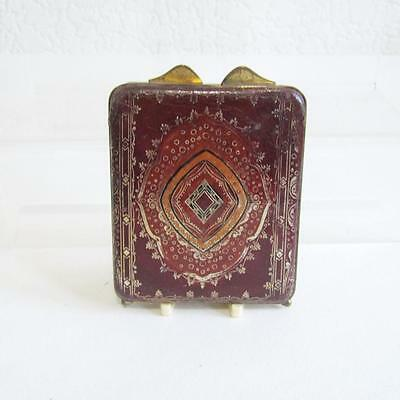Vintage Leather Powder Compact