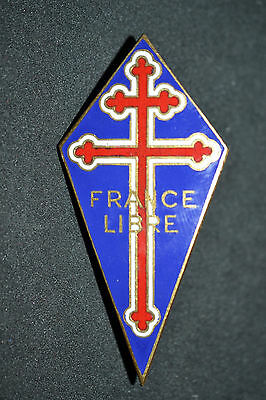H3 Superbe insigne FRANCE LIBRE GUERRE 39 45 ww2  French MEDAL