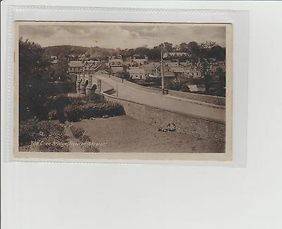 Newton Stewart The Cree Bridge Panoramic View RPPC U/P c1920s Gouldson Publisher
