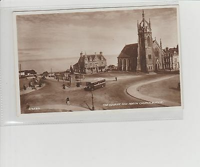 Buckie The Square & North Church Real Photograph U/P c1940/50s Valentines