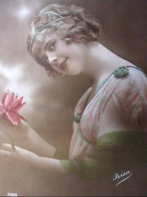 WW1 Postcard 1915 French Beauty In Love Photo Canadian
