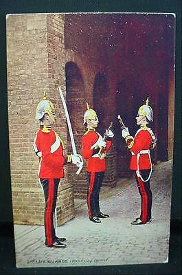 Tuck's Oilette Military Postcard WW1 The 2nd Life Guards Relieving Guard # 9426