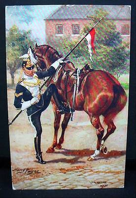 Tuck's Oilette Postcard Pre WW1 17th  Lancers Mount Military