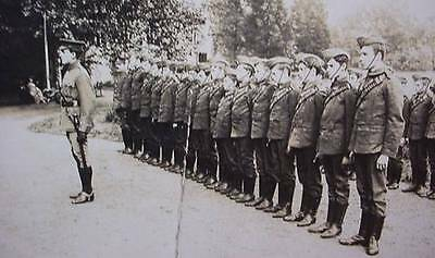 WW1  Photo Postcard Military Soldiers in Uniform at Parade Pre WW1 British