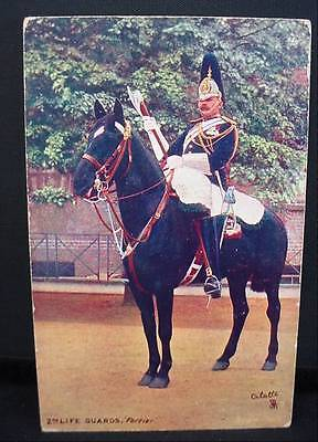 1907 Tuck's Military Postcard Pre WW1 2nd Life Guards Farrier Mounted With AX