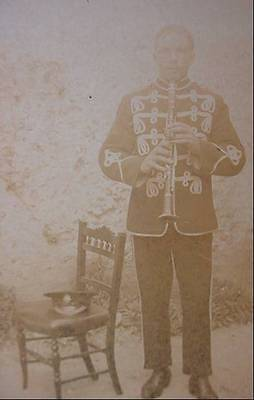 WW1  Photo Postcard  Military Musician In Uniform with Instrument
