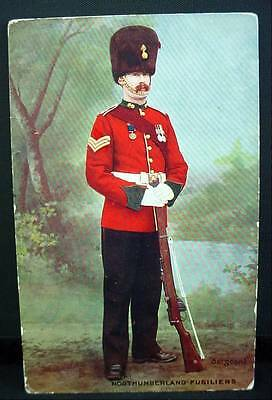 Tuck's Postcard WW1 Northumberland Fusilers In Uniform With Rifle