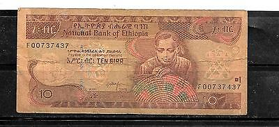 ETHIOPIA #48e 2000 VG CIRC 10 BIRR BANKNOTE PAPER MONEY CURRENCY BILL NOTE